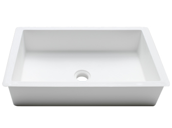 Porcelanosa BASIC Basic BC B810 48x28 E: Solid Surface Wastafels Solid Surface