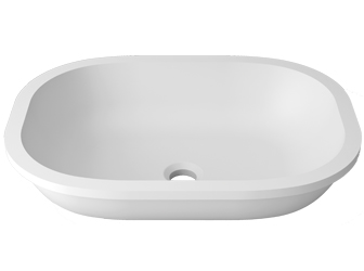 Porcelanosa UNIQUE Unique B812 50X36 E: Solid Surface Washbasins