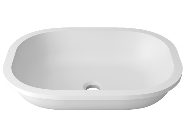 Solid Surface Washbasins Unique B812 50X36 E