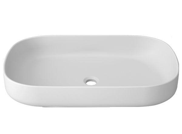 Solid Surface Washbasins Unique B814 70X40 ON TOP