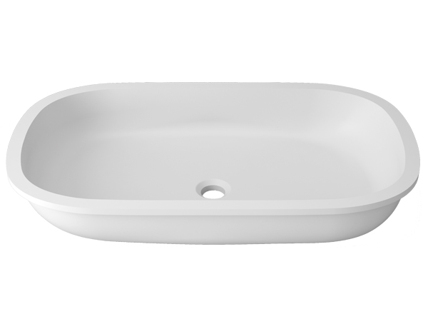 Solid Surface Washbasins Unique B814 68X38 E
