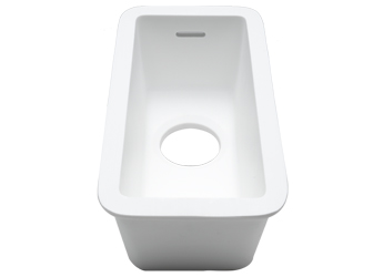 Porcelanosa BASIC Basic BC C823 35x16 E: Solid Surface Sinks Solid Surface