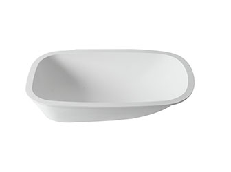 Porcelanosa BASIC Basic T802 Babybath - 70x42 cm : Solid Surface Bathtubs Solid Surface