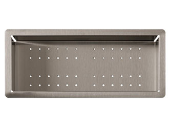 Porcelanosa Kitchen Colander Inox: Accessori con la superficie solida Solid Surface