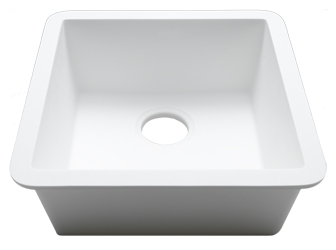 Porcelanosa BASIC Sinks Basic BC C607 40x40 E: Zlewozmywaki Solid Surface