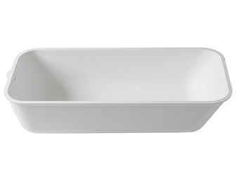 Porcelanosa 3 WAY 3-Way T804 - 165x70 cm: Baignoire en Solid Surface