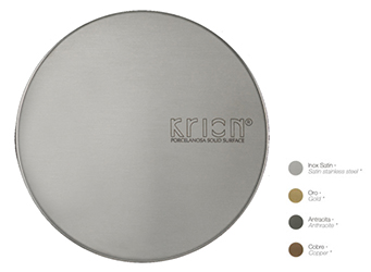 Porcelanosa Kitchen Drain Trim Cover: Accessoires en Surface Solide
