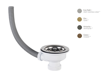 Porcelanosa Kitchen Kitchen Drain with overflow LINKING: Accessoires en Surface Solide