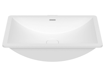 Porcelanosa SLIDE B821 50x30 E: Solid Surface Washbasins