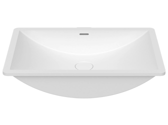 Porcelanosa SLIDE B822 55x35 E: Solid Surface Washbasins
