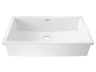 Porcelanosa BASIC Basic BC B819 48x28 E: Solid Surface Wastafels Solid Surface