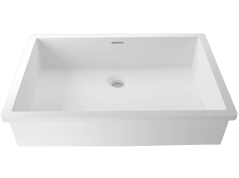 Porcelanosa BASIC Basic BC B820 50x35 E: Solid Surface Wastafels Solid Surface