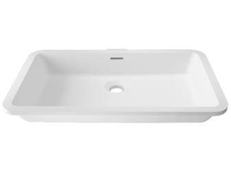 Porcelanosa BASIC BASIC D802 48X28 E: Solid Surface Wastafels Solid Surface