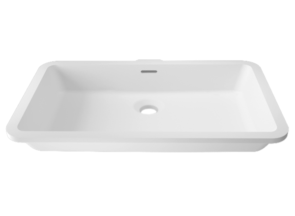 Solid Surface Solid Surface Wastafels BASIC D802 48X28 E