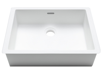 Porcelanosa BASIC Basic B823 38x28 E: Solid Surface Wastafels Solid Surface