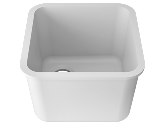 Porcelanosa BASIC Laboratory Basic BC L601 40x40 E: Solid Surface Sinks Solid Surface