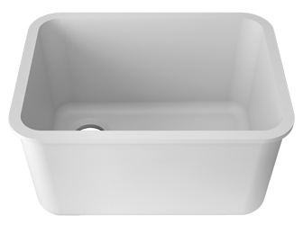 Porcelanosa BASIC Laboratory Basic L801 - 55x40 cm E: Solid Surface Sinks Solid Surface