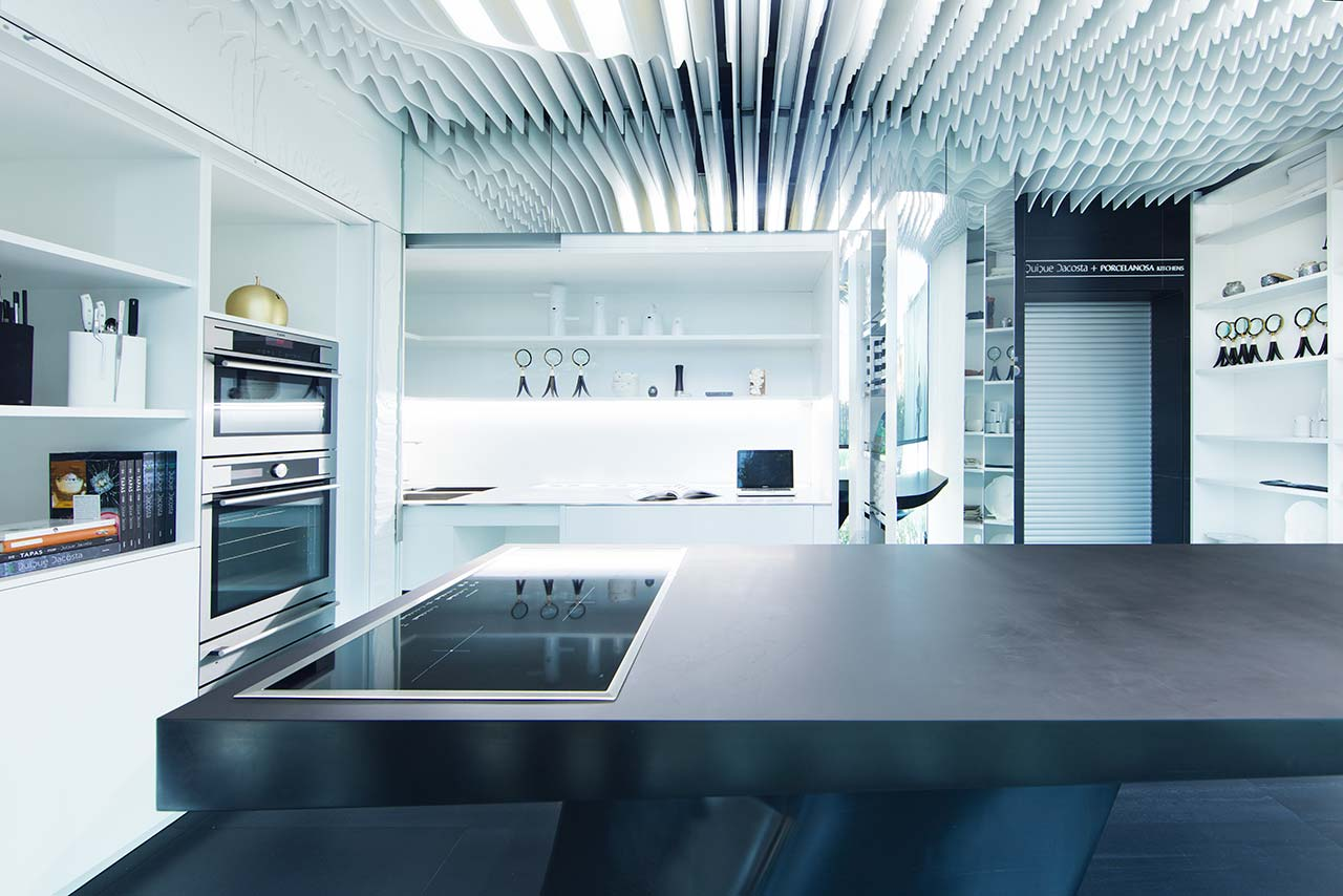 Quique Dacosta - Porcelanosa Kitchens - KRION Solid Surface