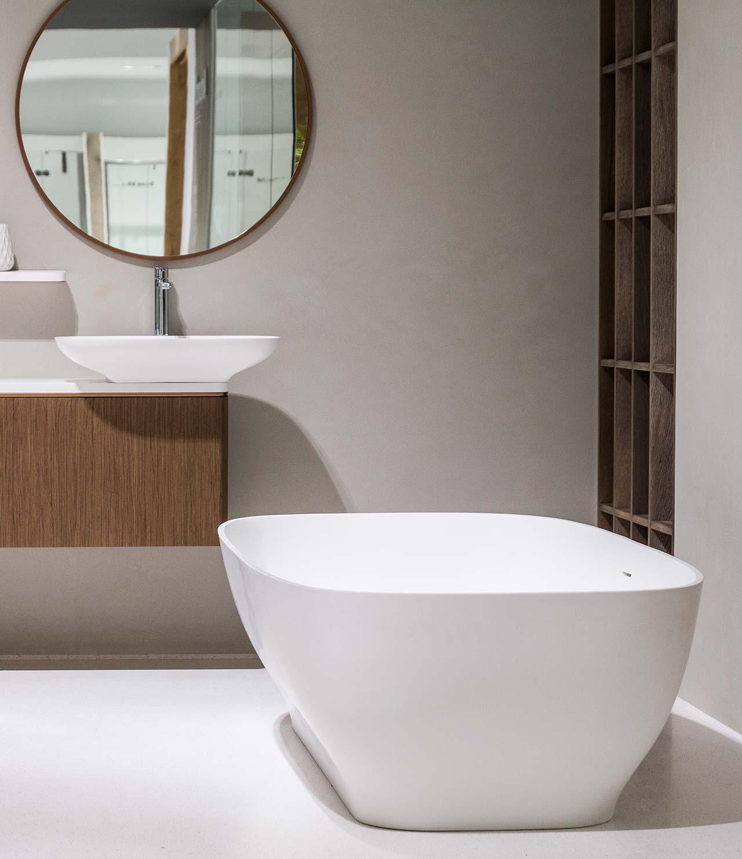 Serie pure by yonoh for krion bath solis surface - Porcelanosa castellon ...